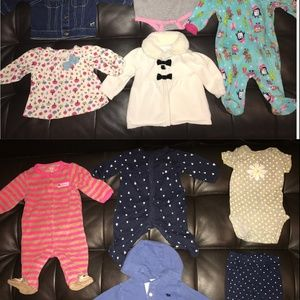 Other - 10ps 3 months baby girls clothing-bodysuit/jacket